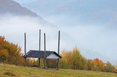 Autumn in mountain village Stock Photography