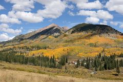Autumn Mountain Village Stock Photos