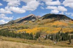 Autumn Mountain Village Stock Photos