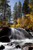 Autumn Mountain Waterfall Royalty Free Stock Photo