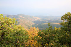 Autumn in mountains. Crimea. Mountain Southern Demerdzhi.Valley of Reductions Stock Image