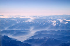 The Autumn Mountains. Aerial from the Alp mountains early Autumn royalty free stock photos