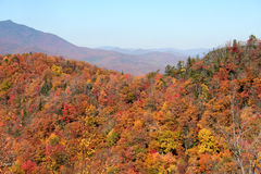 Autumn mountains. Mountains along the blue ridge parkway in north carolina in the fall of the year Stock Photos