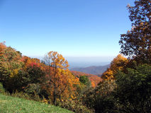 Autumn mountains. Mountains along the blue ridge parkway in the fall stock images