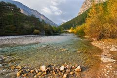 In the autumn in mountains Royalty Free Stock Photo