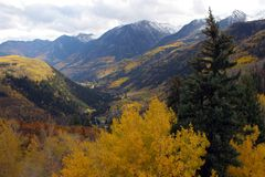 Autumn mountains. In colorado rockies Royalty Free Stock Photos