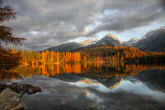 Mountain Lake, National Park, Autumn Landscape Stock Photo