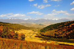 Autumn mountains. 2014.10.1 on china  Autumn mountains Stock Image