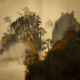 Autumn in the mountains of China Royalty Free Stock Photos