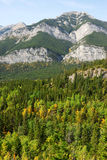 Autumn mountains and forests. Autumn view of rocky mountains and forests in kananaskis country, alberta, canada Royalty Free Stock Photo