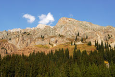 Autumn mountains and forests. Autumn view of rocky mountains and forests in kananaskis country, alberta, canada Stock Photos