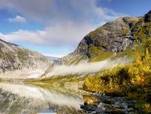 Autumn Mountains, Lake, Norway Royalty Free Stock Images