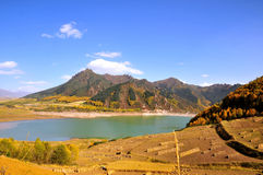 Autumn mountains and Lakes. 2014.10.1 on china  Autumn mountains and Lakes Royalty Free Stock Photo