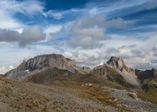 Autumn mountains.Mount Sedaya and rock Zagedan. Caucasus mountai Royalty Free Stock Photo