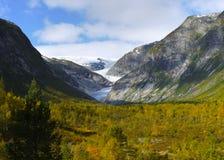 Autumn Mountains Nigard Glacier Valley  Norway Stock Photography