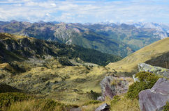 Autumn mountains from the pass Col d'Ayous Royalty Free Stock Image