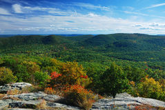Autumn Mountains peak panorama view Stock Images