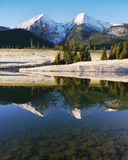 Autumn mountains with reflection in the lake Royalty Free Stock Photos