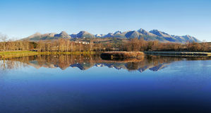 Autumn mountains with reflection in lake Royalty Free Stock Photos
