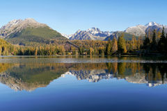 Autumn mountains with reflection in lake Royalty Free Stock Images