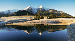 Autumn mountains with reflection in lake Royalty Free Stock Photo