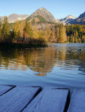 Autumn mountains with reflection in lake Royalty Free Stock Photography