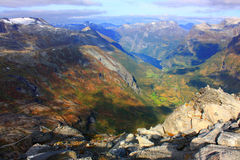 Autumn mountains of Scandinavia Royalty Free Stock Photos