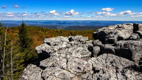 Autumn in the Mountains. Autumn scene at Bear Rocks in dolly sods Wilderness Area, National Forest, West Virginia Stock Photography