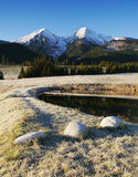 Autumn mountains with snow Royalty Free Stock Photography