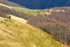 Autumn mountainside view Stock Photos