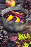 Autumn and mulled wine Royalty Free Stock Photos