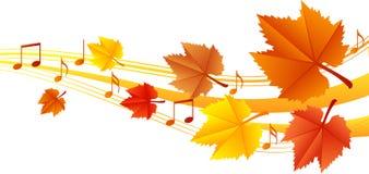Autumn music vector illustration