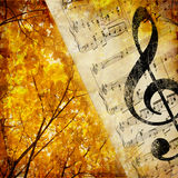 Autumn music Stock Image