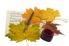 Autumn music. Royalty Free Stock Photography