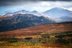 Autumn Mutnovka, Kamchatka fotografia stock