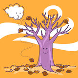 Autumn: naked tree royalty free illustration