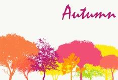 Autumn Natural Background Vector abstracto Fotos de archivo