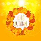 Autumn Natural Leaves Background brillant Illustration de vecteur Photo stock