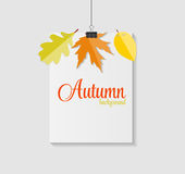 Autumn Natural Leaves Background brillant Vecteur illustration de vecteur