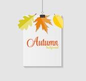 Autumn Natural Leaves Background brillant Vecteur Photo stock