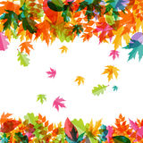 Autumn Natural Leaves Background brillant Vecteur Image stock