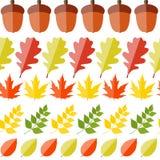 Autumn Natural Leaves Seamless Pattern brillant Image libre de droits