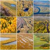 Autumn natural textures, top view Royalty Free Stock Photos