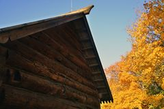 Autumn nature and architecture of Kolomenskoye park in Moscow. royalty free stock images