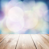 Autumn nature background with wooden table Stock Image