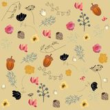 Autumn nature forest elements seamless background pattern.  illustration.eps 10. pattern. Design Royalty Free Stock Photos