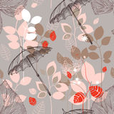 Autumn nature seamless pattern Royalty Free Stock Image