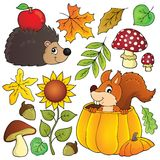 Autumn nature theme set 1 Royalty Free Stock Photos