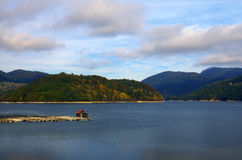 Autumn near Zaovine lake, Western Serbia Royalty Free Stock Photography