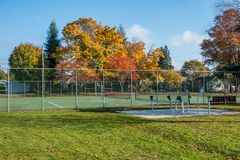Autumn In The Neighborhood 5. A view of a neighborhood in Burien, Washington in Autumn stock photography